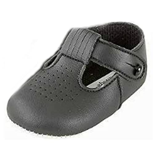 d43500fc56f0 Baby Boys T Bar Pram Shoes with hole cut pattern – Made in England by Early