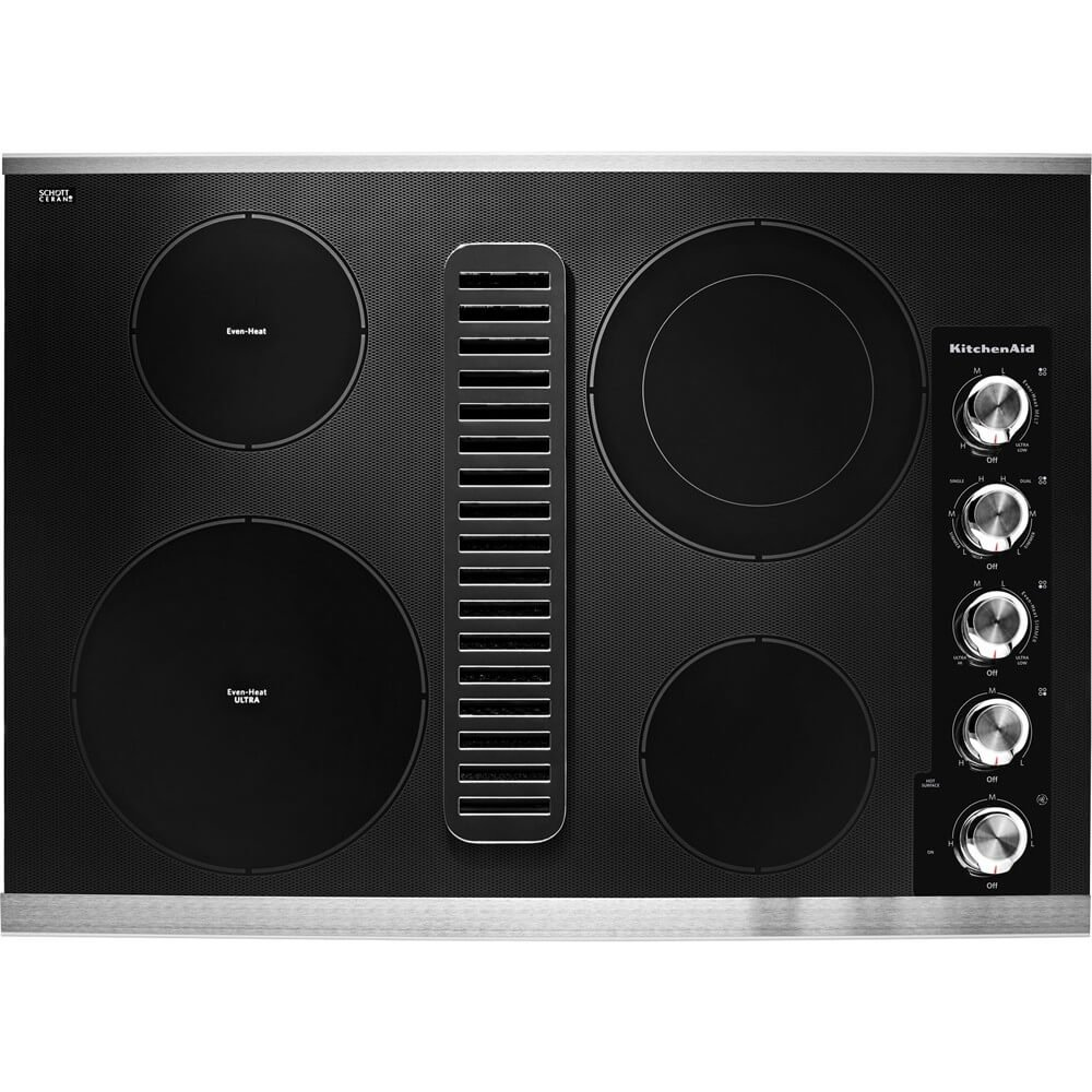 Electric Downdraft Cooktop Stainless Steel KCED600GSS KitchenAid 30 in