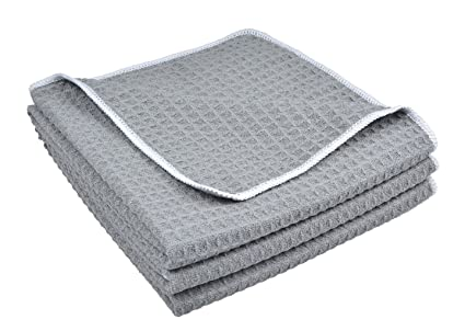 Sinland Paño de microfibra para limpieza con diseño en ondas paños de cocina toallas de cocina