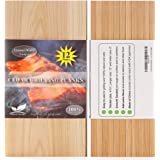 """12 Pack Cedar Grilling Planks with Thicker (4/10"""") & Larger (12""""x 6"""") Size. Add Extra Flavor and Smoke to Salmon - BBQ China"""
