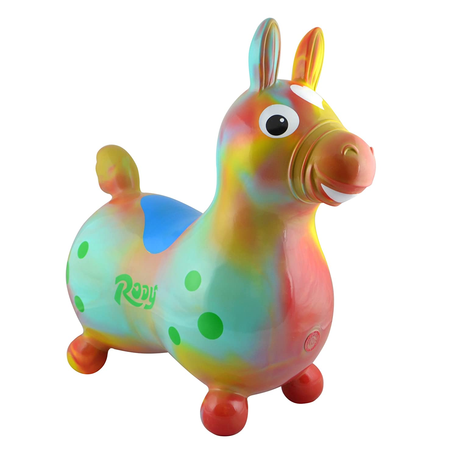 Gymnic / Rody Inflatable Hopping Horse, Blue 7013