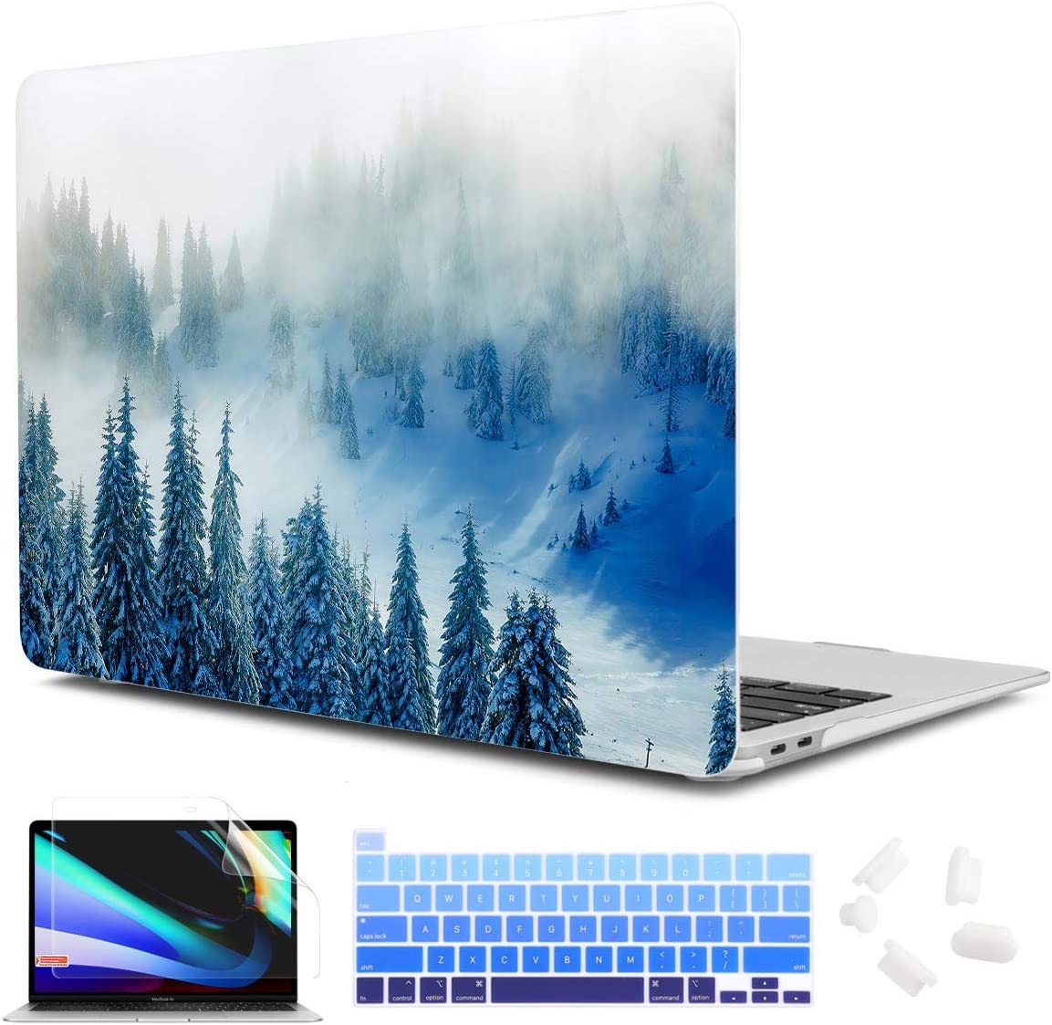 """CiSoo MacBook Pro 13 Inch Case 2020 Release Model A2289 A2251, Plastic Hard Shell Case with Keyboard Cover and Screen Protector for MacBook Pro 13"""" with Touch Bar and Touch ID, Forest"""