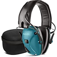 Electronic Shooting Earmuff, Noise Reduction Sound Amplification Electronic Safety Ear Muffs and Storage Case