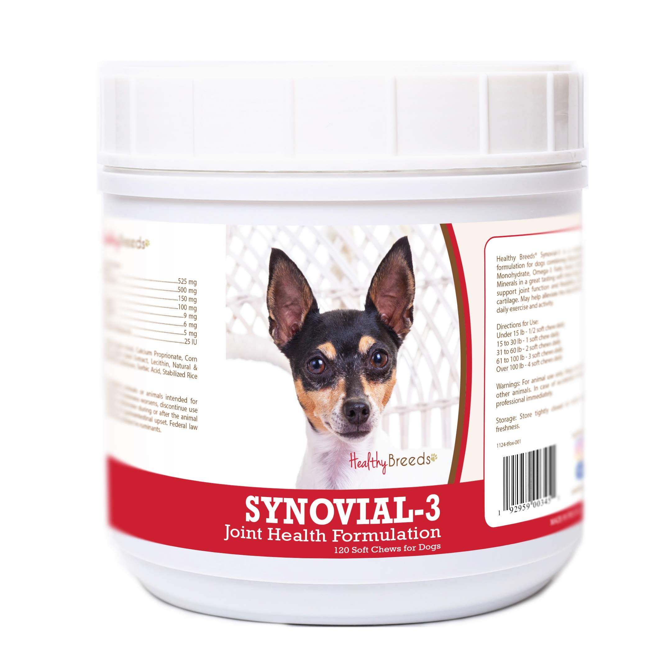 Healthy Breeds Toy Fox Terrier 120 Synovial-3 Joint Support