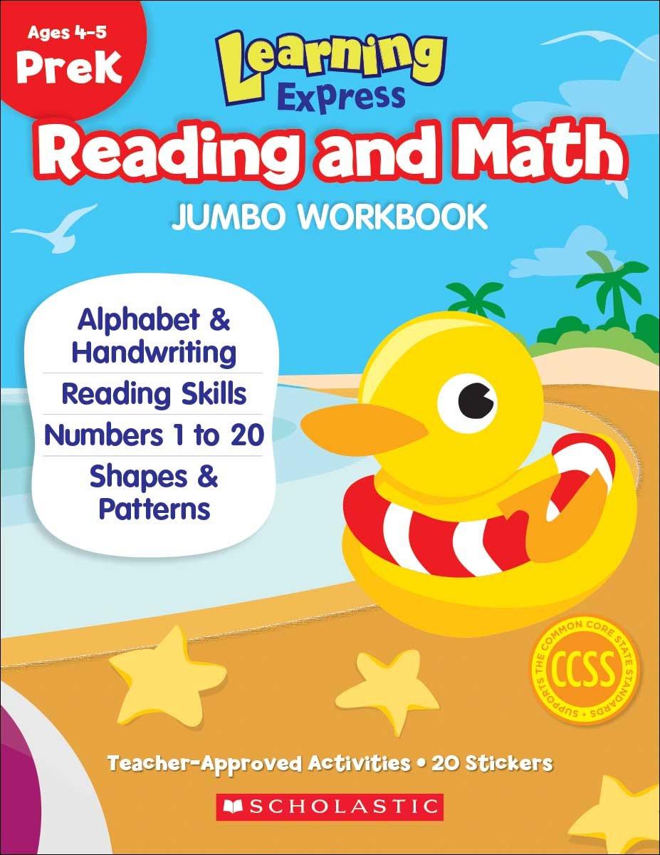 Workbooks prek workbooks : Learning Express Reading and Math Jumbo Workbook PreK: Scholastic ...