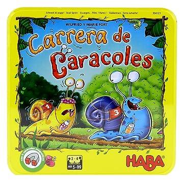 HABA- Juego de Mesa, ¡Carrera de Caracoles (Habermass H304123)