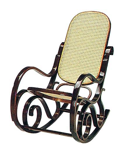 Estilo antiguo de madera curvada silla mecedora silla de ...