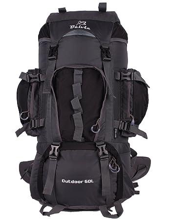 Amazon.com : Belvie 601 Hiking Backpack 60l (Black) : Sports ...