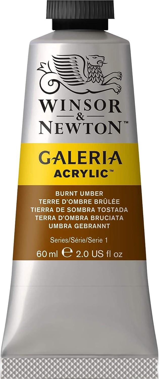 Winsor & Newton Galeria Acrylic Paint, 60-ml Tube, Burnt Umber, 2 Fl Oz