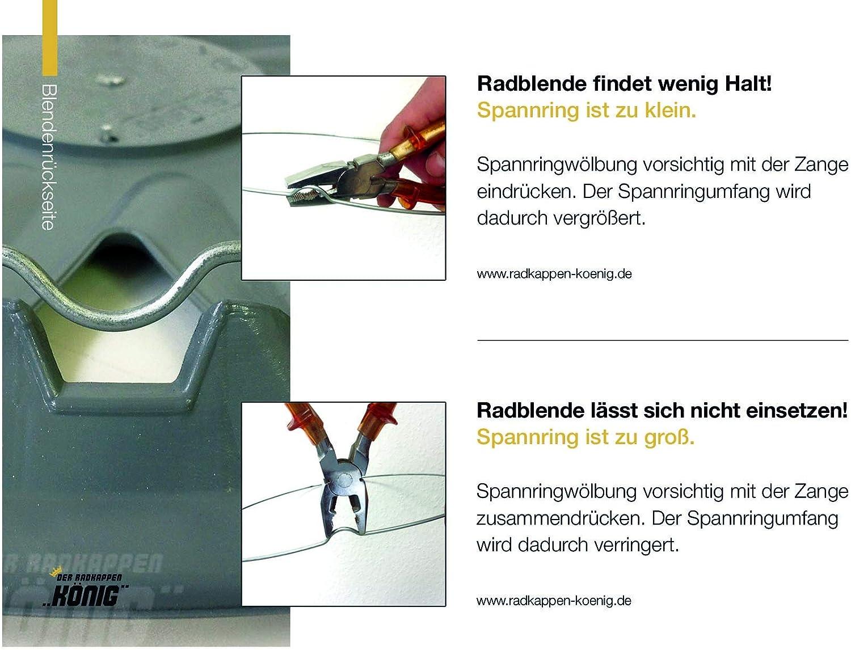 passend f/ür fast alle Fahrzeugtypen universal Radzierblenden Draco Bicolor Farbe /& Gr/ö/ße w/ählbar Schwarz//Rot 16 Zoll Radkappen