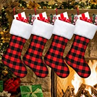4 Pack Christmas Stockings,Large Size Classic Party Favors Stockings Candy Gift Bag Xmas Stockings for Fireplace Hanging…