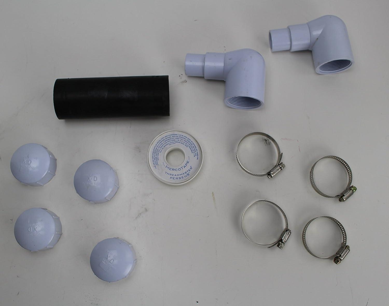 Set of x5 Reusable Solar Sun rings for pool heating