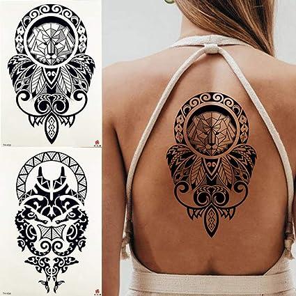 MRKAL Tatuajes Temporales León Geométrico Rey Diamante Etiqueta ...