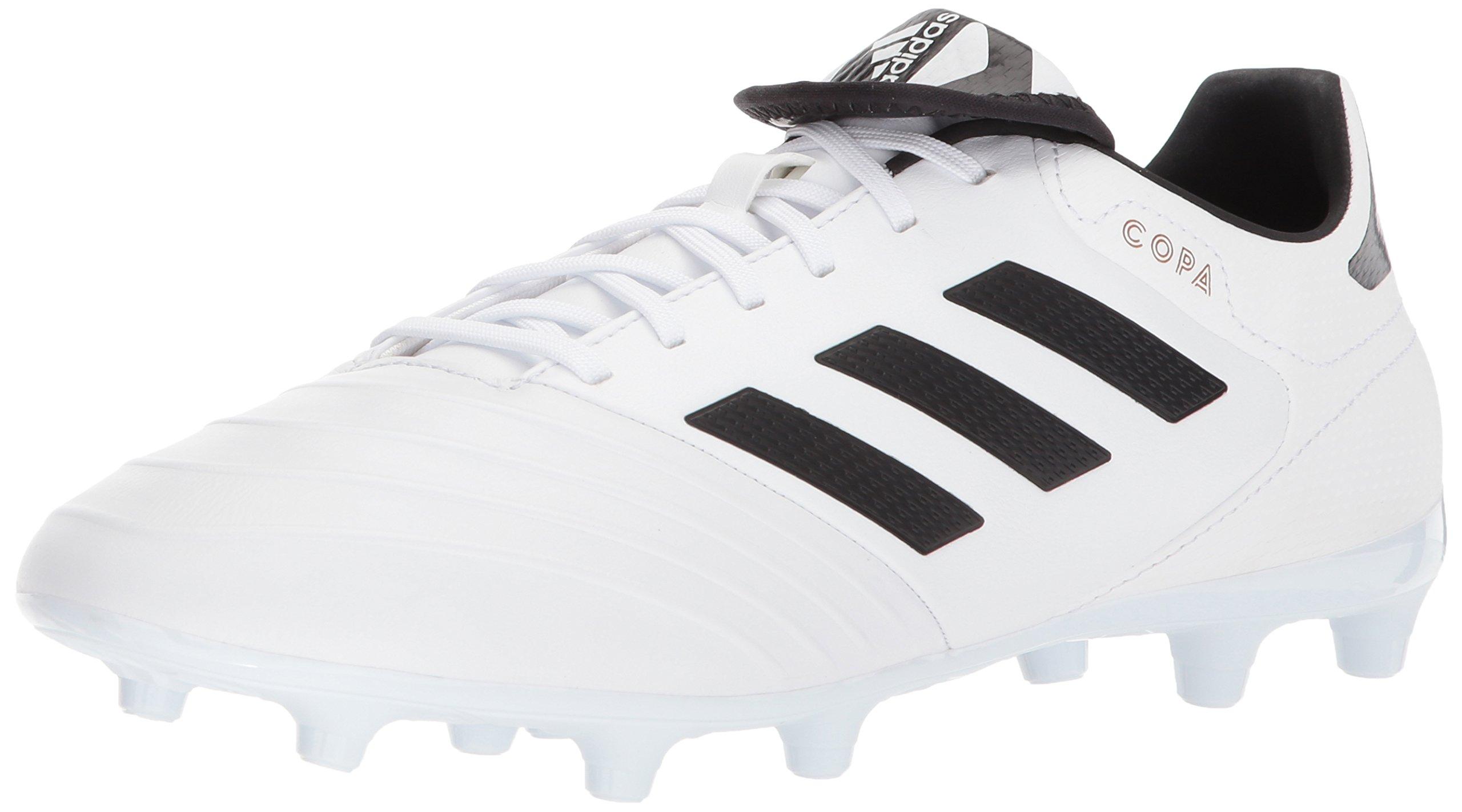 adidas Men's Copa 18.3 FG Soccer Shoe, White/Core Black/Tactile Gold, 9 M US by adidas