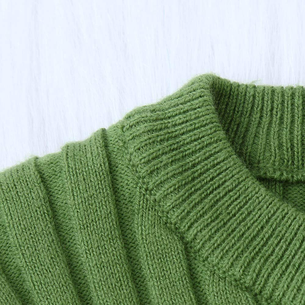Toddler Kids Little Girl Boy Ribbed Knit Sweater Soft Warm Sweater Pullover for 0-5 Y TM Little Kids Sweater,Jchen