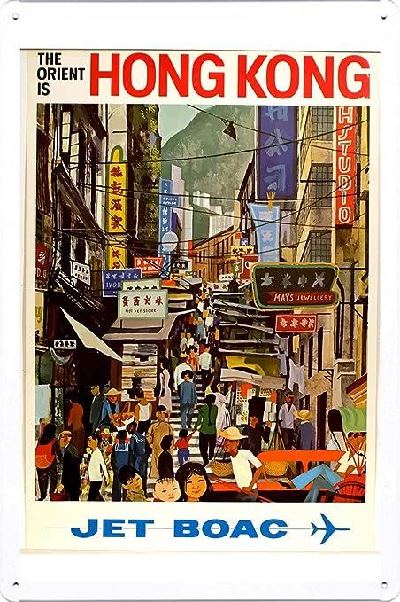 Amazon com: Tin Sign of Retro Vintage Travel Poster Hong