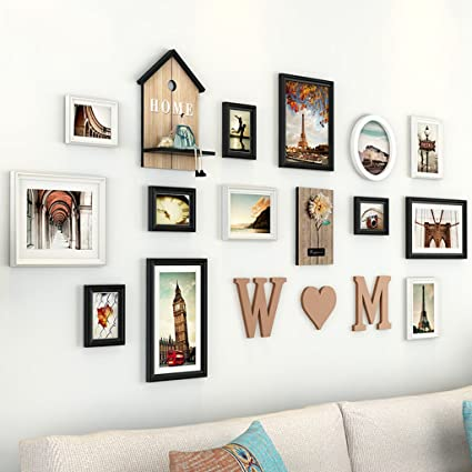 Amazon.com - Home@Wall photo frame Living Room Photo Frames, 12 Pcs ...