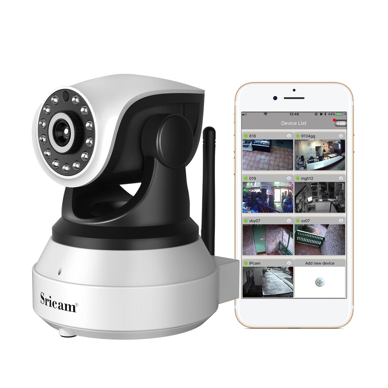 Sricam Cámara IP, Cámara de Vigilancia WiFi Interior Inalámbrico, HD P2P con Micrófono y
