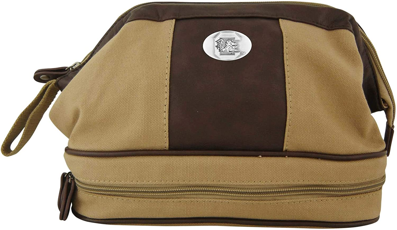 ZEP-PRO NCAA Mens Khaki Canvas Concho Toiletry Bag