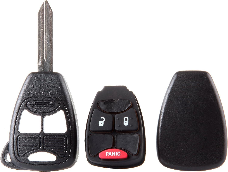 SELEAD Flip Key Fob 2X3 Buttons Keyless Entry Remote Shell Case fit for 2009 Chrysler Aspen Sebring 2009 Dodge Avenger Caliber Antitheft Keyless Entry Systems ADP05706912S 2pcs