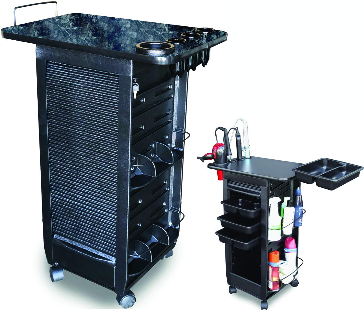 C180-LTH Salon SPA Roll-about Cart w/Lockable door & 110 Lam. TOP BM MADE IN USA Dina Meri R1-P