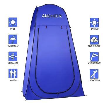 Ancheer - Tienda de campaña portátil con funda para inodoro, ducha, vestuario al aire libre, Typ2: Amazon.es: Deportes y aire libre