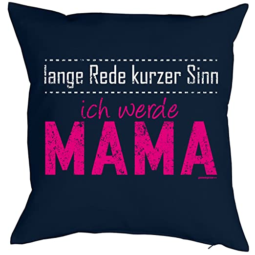 Cojín con diseño para madres - Largo Discurso corta sentido ...
