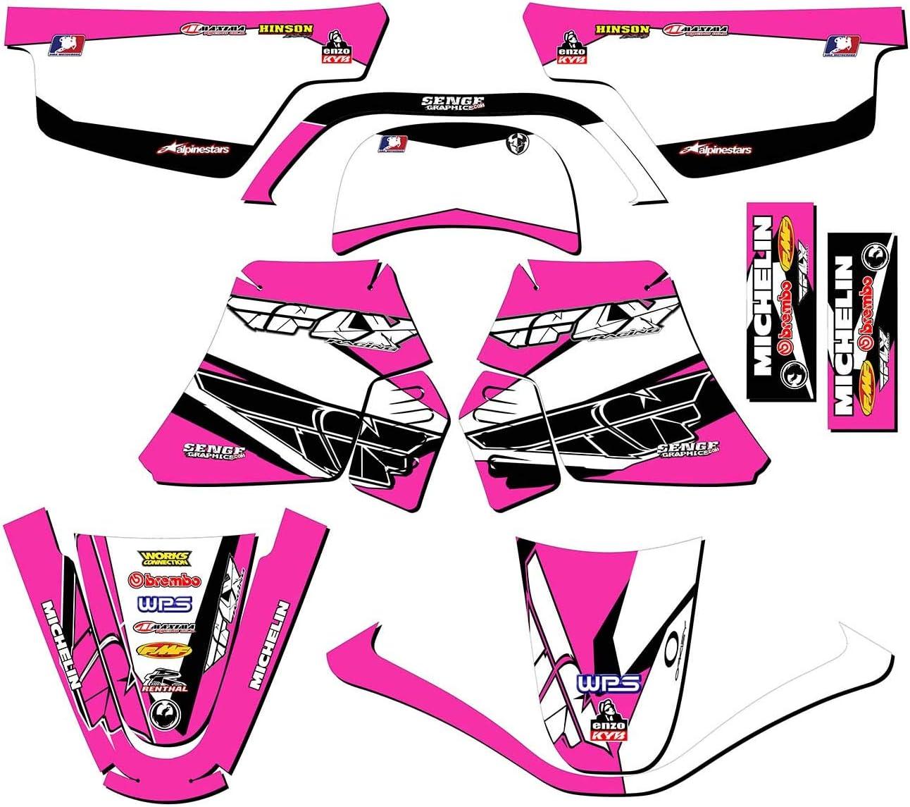 Compatible with Yamaha 1990-2018 PW 50 Senge Graphics Race Series Black Complete kit