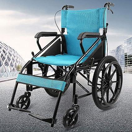 ZDY Carro para Discapacitados Ultra Liviano, Plegable, Reclinable, Liviano, Plegable, Silla