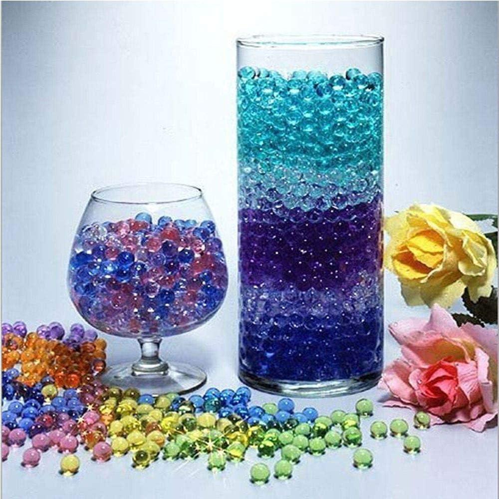 500pcs Bolas de Gel, Bolas Gel Agua Bolas para Agua gelatina para Plantas Bolas Agua Gel Bolas Colores Gel Bolas de Agua para Plantas
