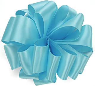 product image for Offray Single Face Satin Craft Ribbon, 5/8-Inch by 20-Yard Spool, Ocean Blue