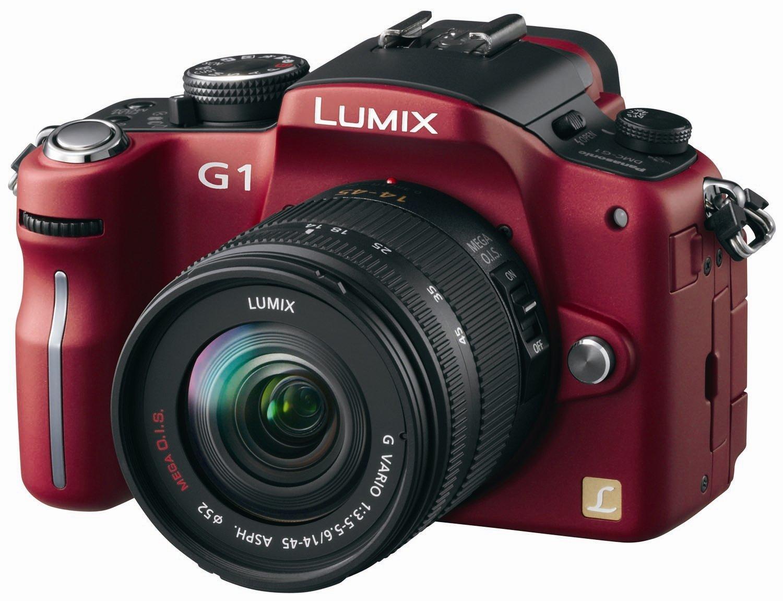 Amazon.com : Panasonic Lumix DMC-G1 12.1MP Digital Camera with Lumix G  Vario 14-45 mm f/3.5-5.6 ASPH Mega OIS Lens (Blue) : Compact System Digital  Cameras ...
