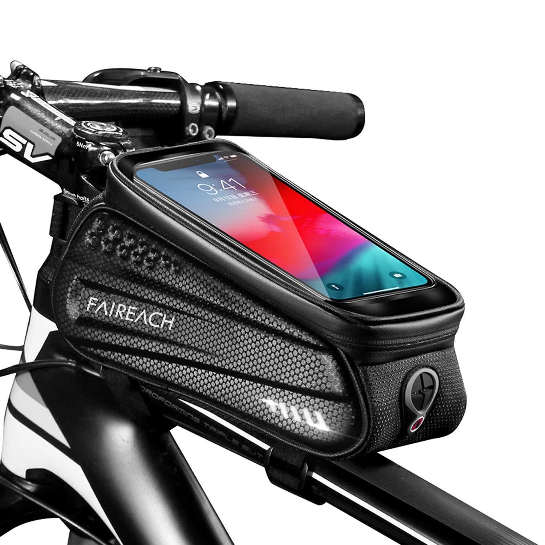 TURATA Waterproof Bike Pouch Bag Bike Frame Bag Cycling Front Top Tube