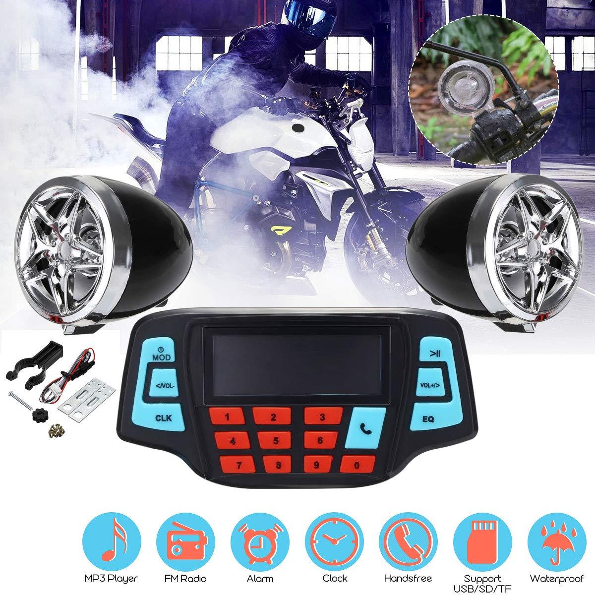 Amazon.com: HERIUS - Altavoces estéreo para motocicleta ...
