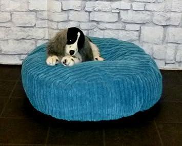 Zippy - Puf redondo para mascota, cama de perro de 76,2 cm de diámetro, tela de cordón color azul: Amazon.es: Productos para mascotas