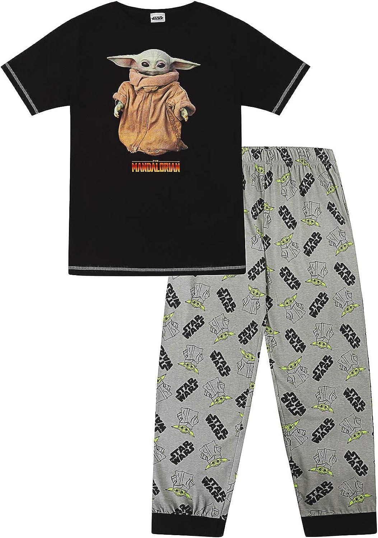 Star Wars Disney - Pijama largo de algodón para hombre, diseño de The Mandalorian The Child Retrato