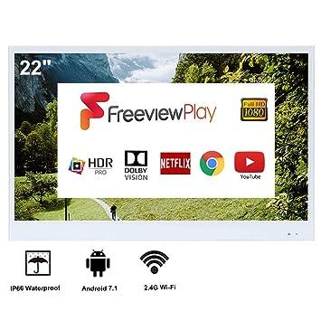Soulaca TV con Espejo Inteligente IP66 de 22 Pulgadas, Resistente ...