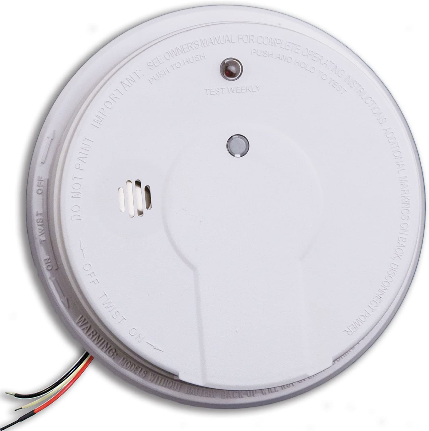 Kidde i12020 Hardwired Smoke Alarm with Hush Button, Interconnectable