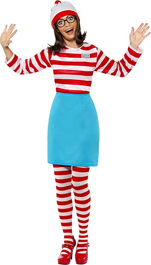 Mens Licensed Wheres Wally Fancy Dress Costume Where/'s Wally S-XL by Smiffys