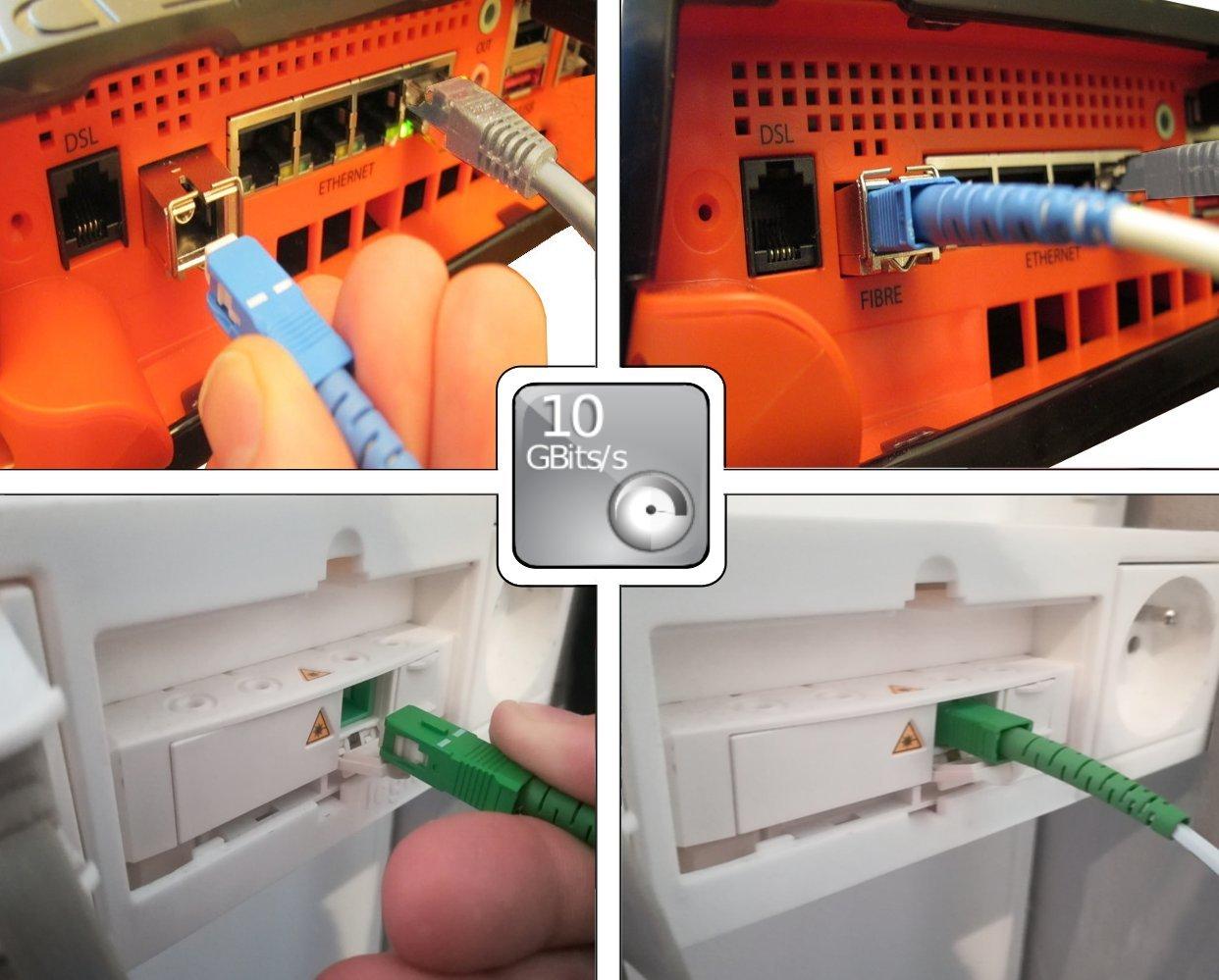 Lin/éaire FB125J C/âble Fibre Optique SC-APC//SC-UPC pour Freebox