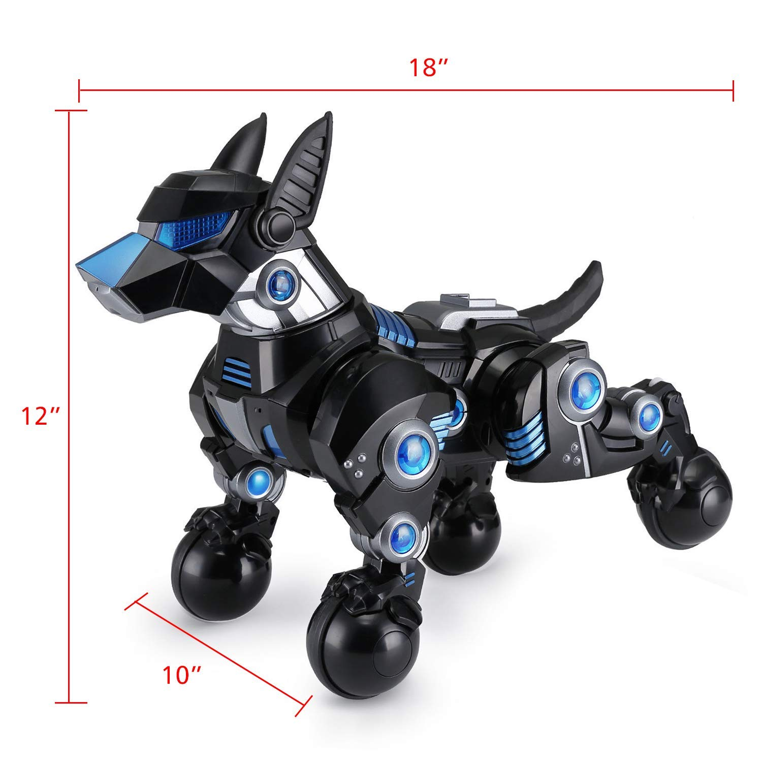 Modern-Depo Rastar Intelligent Robot Dog with Remote Control for Kids, USB Charging, Dancing Demo - Black by Modern-Depo (Image #3)