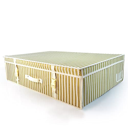HANGERWORLD Large Ivory Gold Stripe Wedding Dress Bridal Gown pH Neutral Space Saving Storage Travel Box