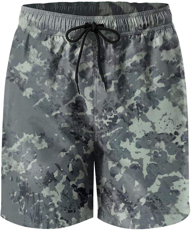 Men Beach Shorts Classic Woodland Fashion Camouflage Quick Dry Adjustable Board Shorts