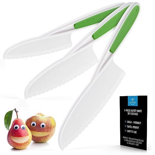 Zulay Kids Juego de cuchillos para cocinar y cortar frutas ...