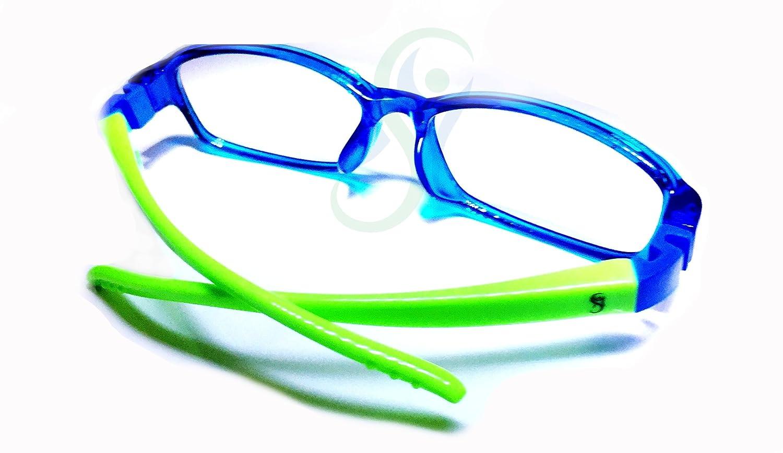 100/% Occhiali Bimbo protettivi con lenti neutre Anti Luce Blu e UV fino al 41/% per gioco, TV, Tablet, smartphone. Aste Flessibili e materiale leggero TR90 Prodotto Certificato FDA e CE.