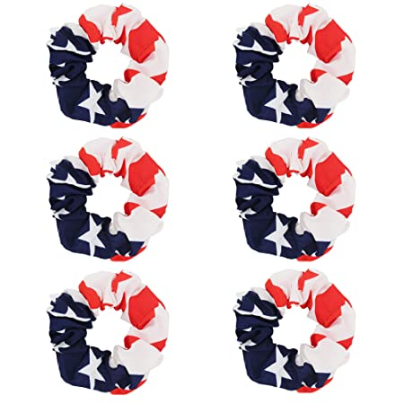 \u201cAmerican flag\u201d cotton scrunchie Soybean Scrunchies