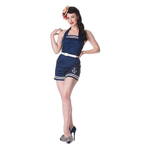 Hell Bunny - traje de marinera de una pieza - mono de mujer - años 50