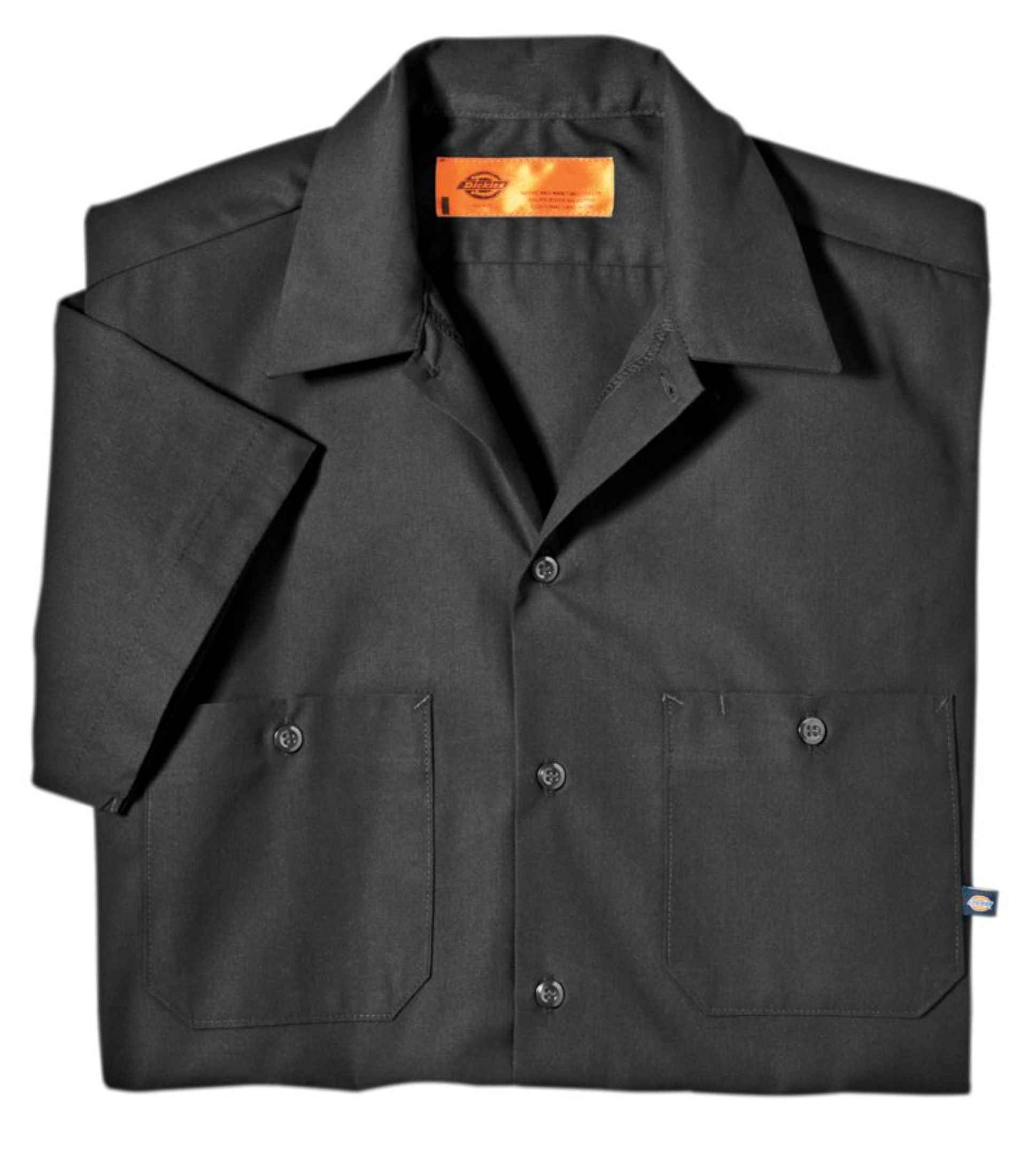 Dickies Occupational Workwear LS535CH 2XL Polyester/ Cotton Men's Short Sleeve Industrial Work Shirt, 2X-Large, Dark Charcoal