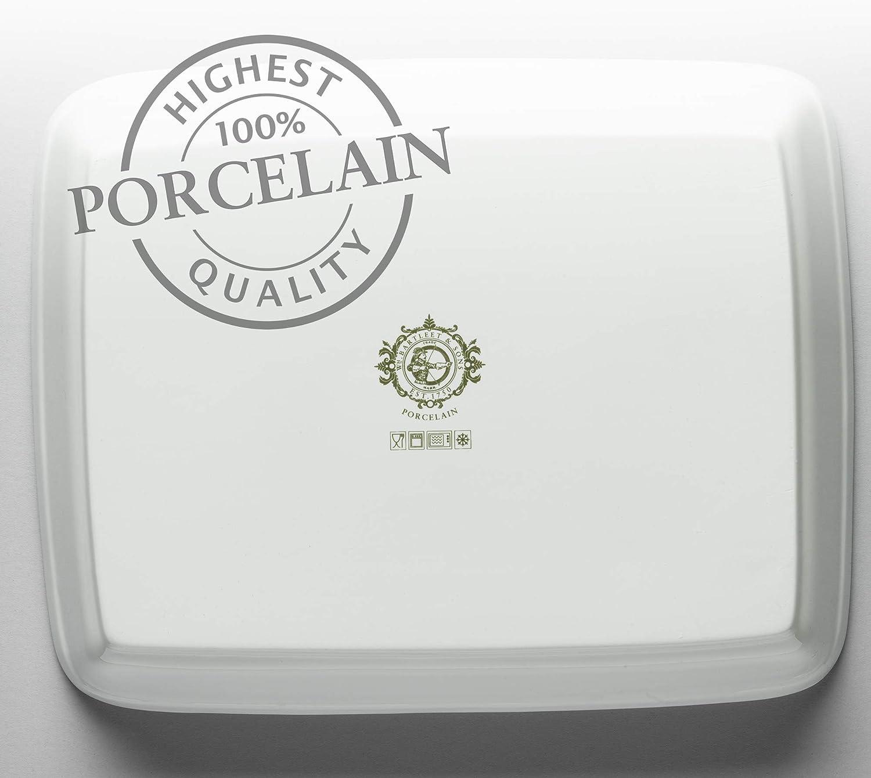 WM Bartleet /& ‿Sons 1750 T401 Plat /à lasagne traditionnel en porcelaine Blanc 31 x 24 cm