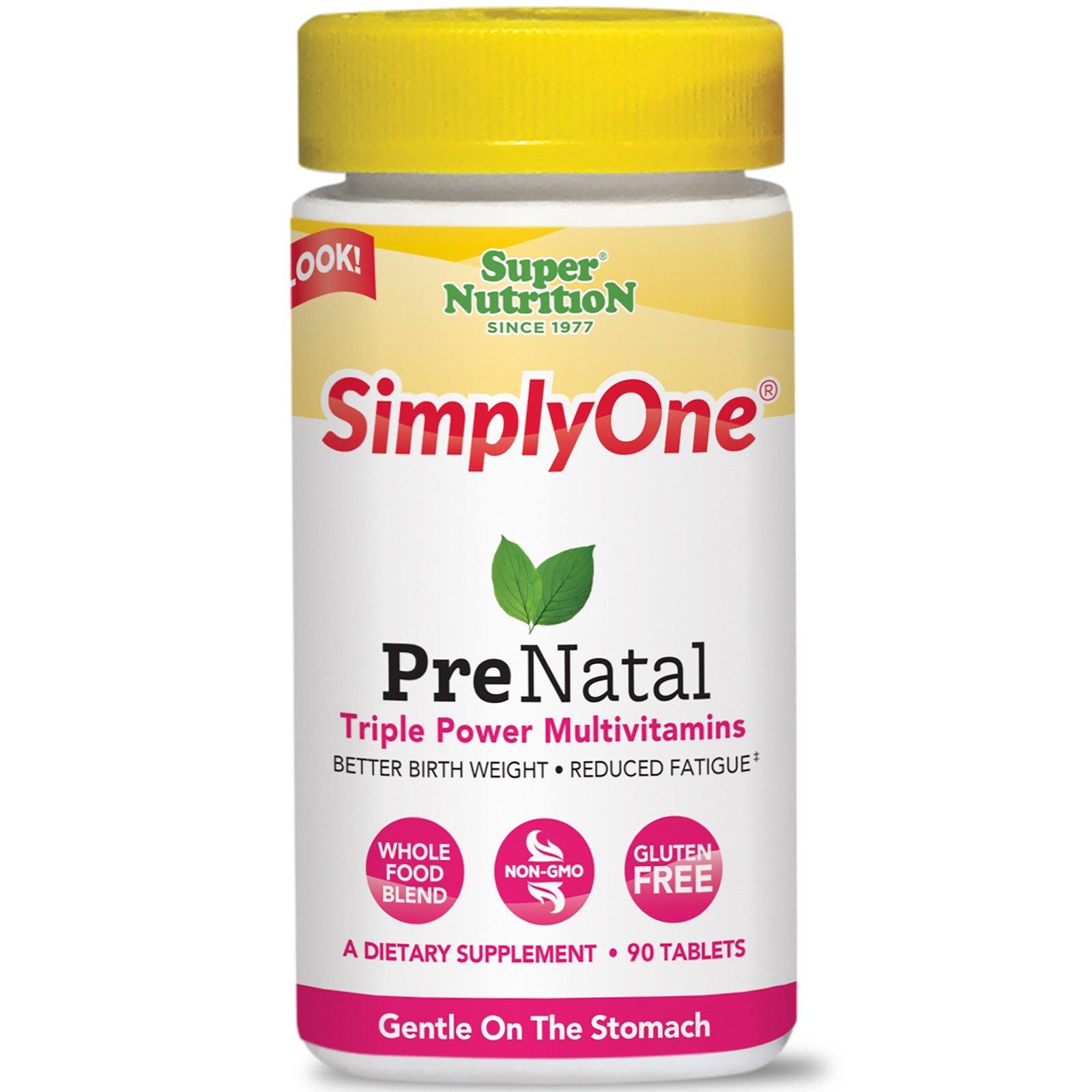 Super Nutrition, Simply One Prenatal, 90 Tablets